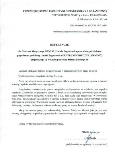 Referencje PEC-1