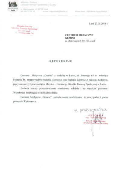 Referencje MGOPSLask-1